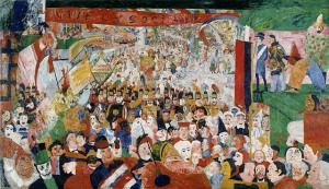 The entry of Christ into Brussels in 1889 - James Ensor - 1888
