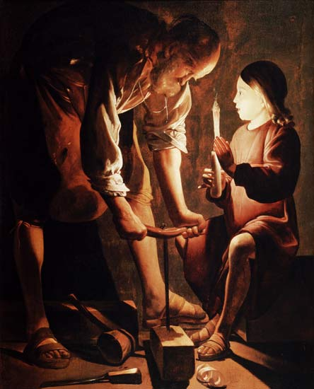 Saint Joseph and Young Jesus