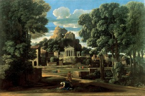 The gathering of the ashes of Phocion by his widow | Nicolas Poussin | 1648