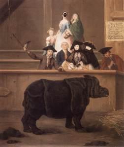 Exhibition of a rhinoceros at Venice   Pietro Longhi   1751