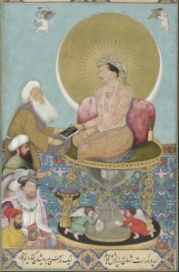 Jahangir preferring a Sufi sheikh to kings | Bichitr | 1618