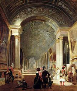 View of the grande galerie of the Louvre | Patrick Allan-Fraser | 1841