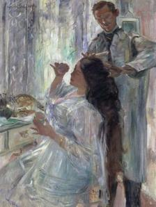 Charlotte Corinth at her dressing table | Lovis Corinth | 1911