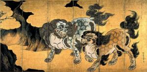 Chinese lions | Kano Eitoku | Late 16th century