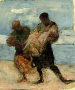 The rescue | Honoré Daumier | 1870