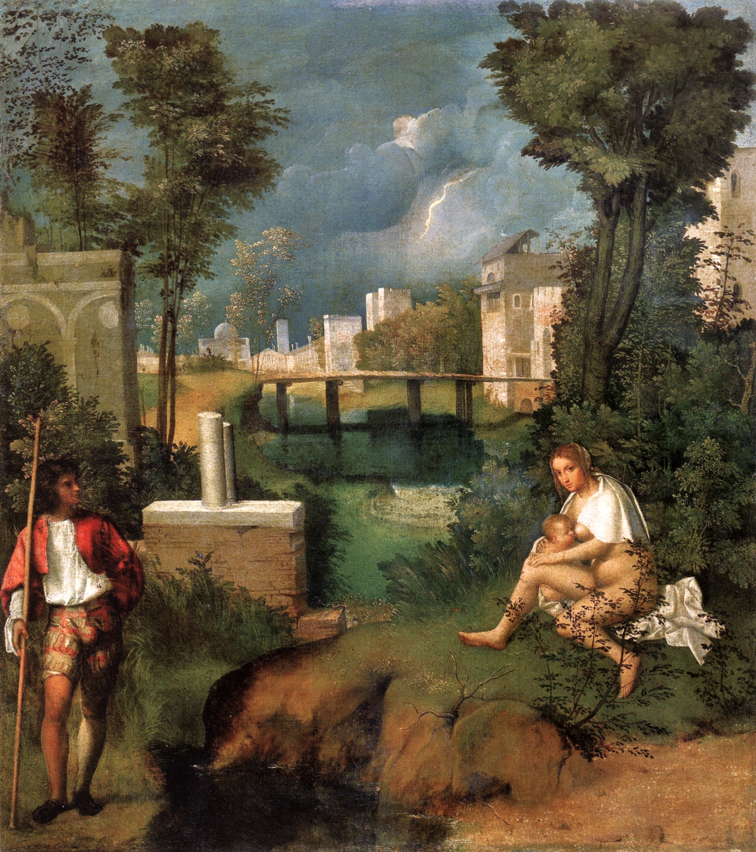 the tempest giorgione 1508 silver and exact