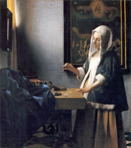 Woman holding a balance | Johannes Vermeer | 1664