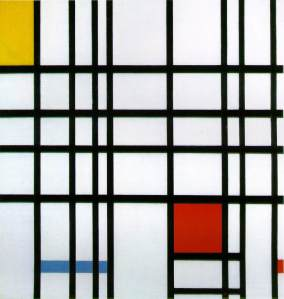 Composition with yellow, blue and red | Piet Mondrian | 1942