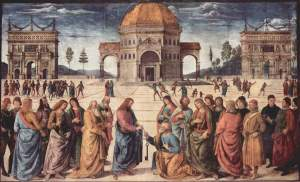 The giving of the keys to Saint Peter | Pietro Perugino | 1482