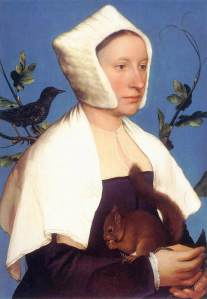 Lady with a squirrel and a starling | Hans Holbein the younger | 1528