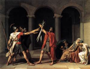 Oath of the Horatii | Jacques-Louis David | 1784