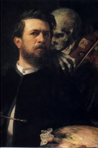 Self portrait with Death playing the fiddle | Arnold Böcklin | 1872