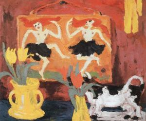Still life with dancers | Emil Nolde | 1914