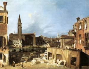 The stonemason's yard | Canaletto | 1728