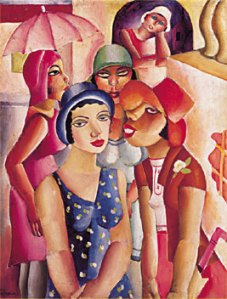 Five girls from Guaratinguetá | Emiliano di Cavalcanti | 1926