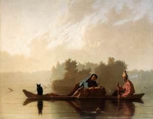 Fur traders descending the Missouri | George Caleb Bingham | 1845