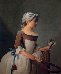 Girl with racket and shuttlecock | Jean-Baptiste-Siméon Chardin | 1737