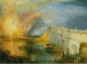 The burning of the Houses of Lords and Commons | J.M.W. Turner | 1835