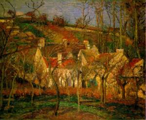 The red roofs | Camille Pissarro | 1877