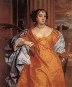 Barbara Villiers, Duchess of Cleveland as St. Catherine of Alexandria | Sir Peter Lely | 1666