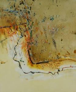 Dry creek bed, Werribee Gorge I | Fred Williams | 1977