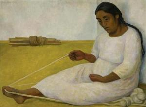 Indian spinning | Diego Rivera | 1936