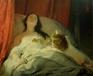 The drowsy one | Friedrich von Amerling | 1850
