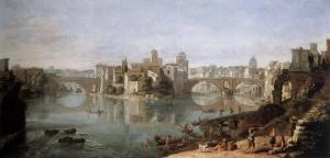 The island in the Tiber | Gaspar van Wittel | 1685