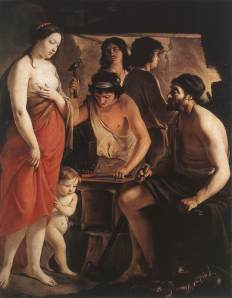 Venus at the forge of Vulcan | Le Nain brothers | 1641