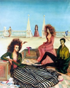 Composition with figures on a terrace | Leonor Fini | 1939