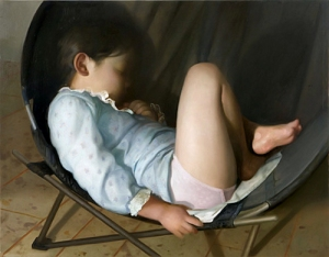 Lilly in a round chair | Vincent Desiderio | 2008