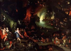 Orpheus in the underworld | Jan Brueghel the Elder | 1594