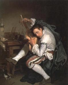 The guitar player | Jean-Baptiste Greuze | 1755