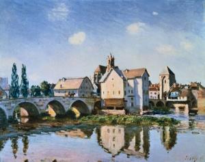 The Moret Bridge in the sun | Alfred Sisley | 1892