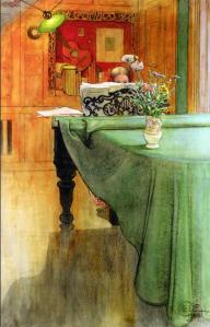 Brita at the piano | Carl Larsson | 1908