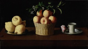 Still life with lemons, oranges and a rose | Francisco de Zurbarán | 1633