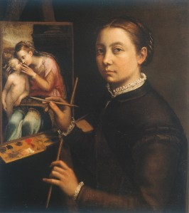 Self portrait at the easel | Sofonisba Anguissola | 1556
