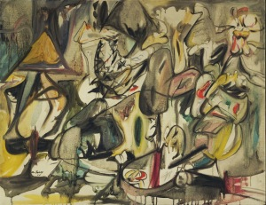 The leaf of the artichoke is an owl | Arshile Gorky | 1944