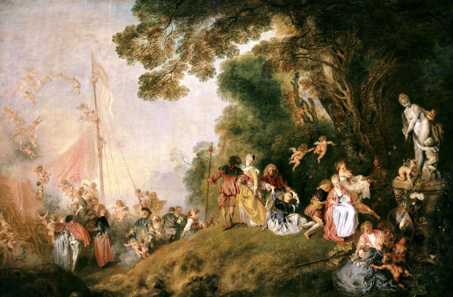 Pilgrimage to Cythera   Jean-Antoine Watteau   1721Return From Cythera By Antoine Watteau