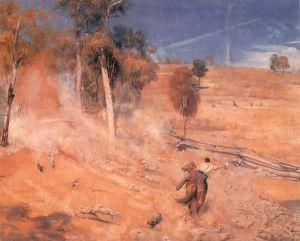 A break away!   Tom Roberts   1891