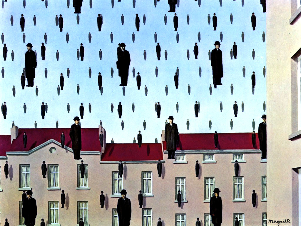 Golconda magritte explication essay