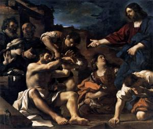 Raising of Lazarus | Guercino | 1619