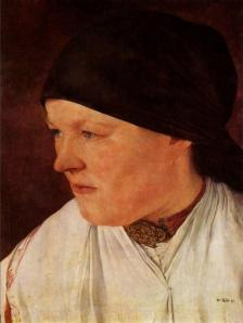 Head of a peasant girl | Wilhelm Leibl | 1879