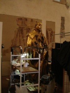 People from the Louvre restoring a Donatello | Galleria degli Uffizi | Florence