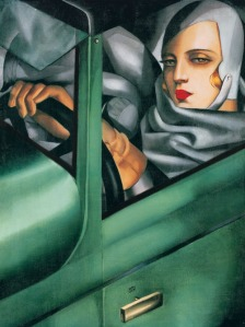 Self portrait in the green Bugatti | Tamara de Lempicka | 1925