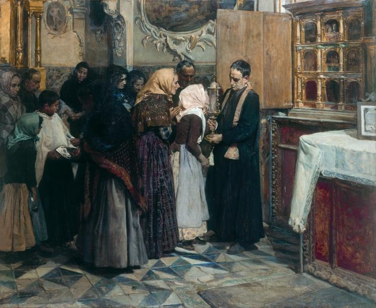 Kissing the relic | Joaquin Sorolla | 1893